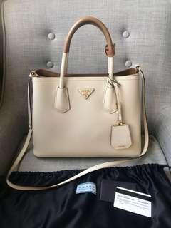 Preloved PRADA Double Bag