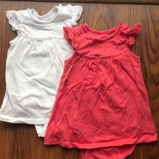 Uniqlo dress with diaper cover (set of 2)