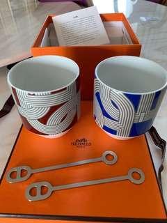 Hermes愛馬仕咖啡杯連匙羹