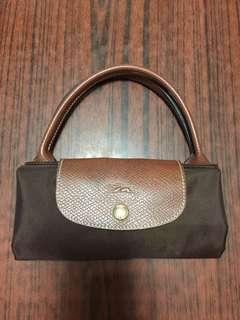 Longchamp 手挽袋可放A4深啡色