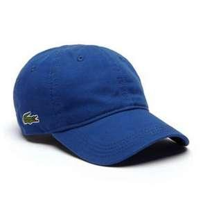 Bnew Authentic LACOSTE Baseball Gabardine Cap, Electric Blue