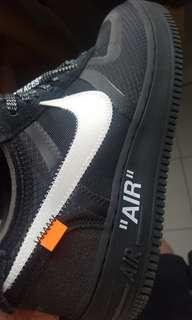Off white x Nike Airforce 1 black US9