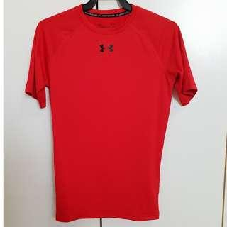🚚 BN Authentic Under Armour Compression Red Shirt