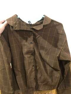 Tops brown flannel