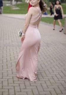 Satin Pink Prom Dress