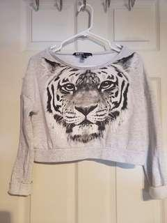 Gray Tiger Print Longsleeves