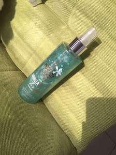 Parfume vanilla tin shimmer mist