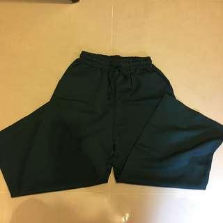 🚚 墨綠色寬褲 只穿3次95成新