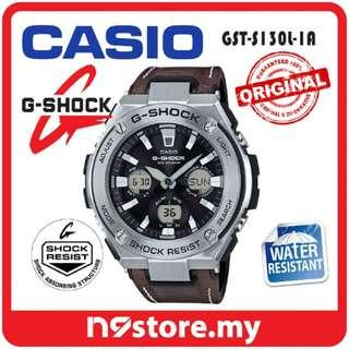 CASIO G-SHOCK GST-S130L-1A TOUGH LEATHER BAND NEOBRITE DOUBLE LED LIGHT WATCH