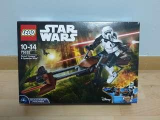 Lego 75532 Scout Trooper & Speeder Bike Star Wars buildable figure - brand new MISB