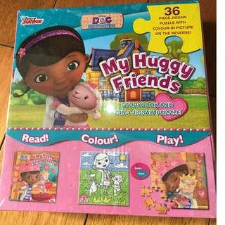 Disney Doc McStuffins My Huggy Friends Storybook and jigsaw puzzle