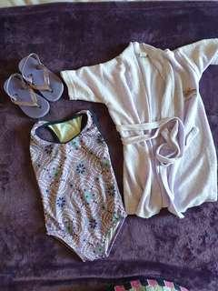 Summer Baby Clothes Set 4 Bathing Suit Robe