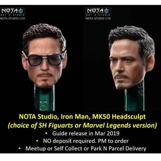 🚚 [Urgent Preorder] NOTA Studio, Headsculpt for SH Figuarts or Marvel Legends Iron Man, Mark 50 MK50 (figure sold separately)