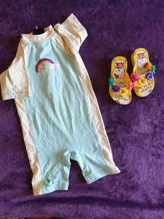Summer Baby Clothes Set 6 Wetsuit Slippers