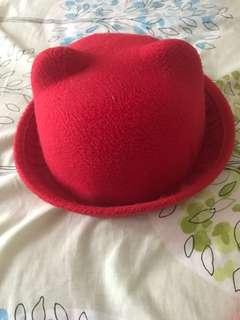 Red Bear/Cat hat