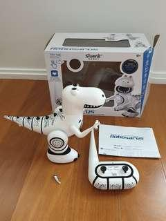 Like brand new in box interactive RC control dinosaur robosarus