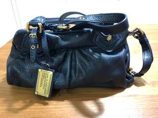 Marc Jacobs Genuine Leather Blue Handbag