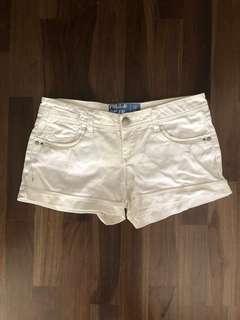 🚚 Pull & Bear denim white shorts
