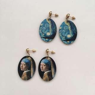 FAMOUS PAINTING DANGLE EARRINGS