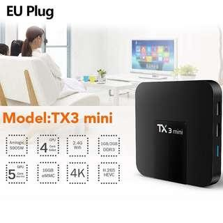 TX3 Mini S905W Android 7.1 2.4GHz WiFi 2GB/16GB TV Box HD media player