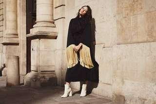 Ellery Fringed Ritz Komodo Dress size 8