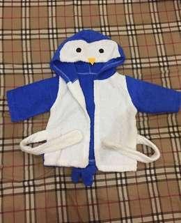 Bathrobe baby karakter pinguin