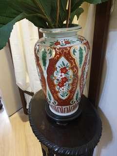 Pretty flower Vase 35cm tall with vase holder