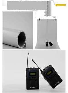 Photo studio shooting PVC background