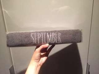 September Gray Fitness Towel #makespaceforlove