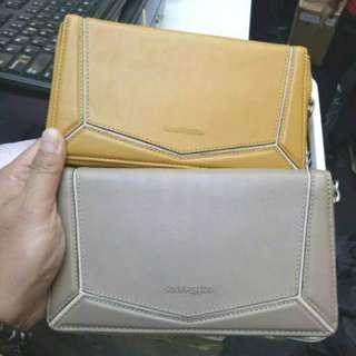 Dompet Hush Puppies Long Zip Purse Wallet 100% Original Counter