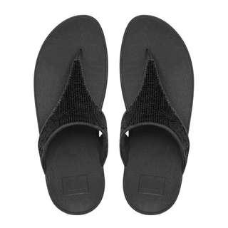 FitFlop EU36 Electra Micro Toe Post Black