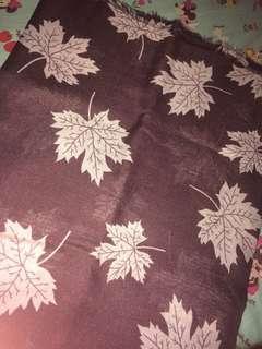 Hijab Square motif daun warna browny