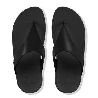 FitFlop EU38 Lulu Leather Toepost Black