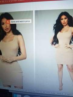 Fashion Nova Casual Nude Dress