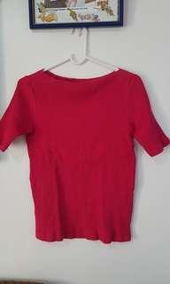 Slighlty Used UNIQLO Dark Pink Shirt size Medium