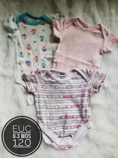 Take All 0-3 mos onesies for baby girl