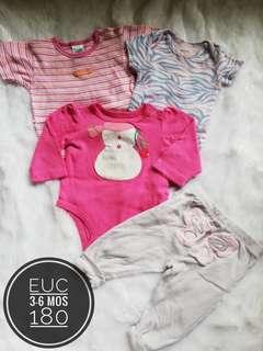 Take All 3-6 months onesies for baby girl