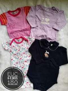 Take All 6-9 months onesies for baby girl