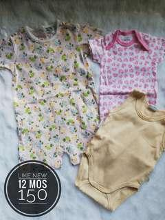 Take All 12 months onesies and romper for baby girl