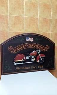 Vintage Harley Davidson Pub Sign ( Shovelhead 1966 -1984 ) Hand Printed and Hand Made In USA, total of 4 different design, for Pub or Home Decoration, this item is very rare.