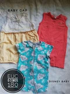 Take All 0-3 months rompers for baby girl
