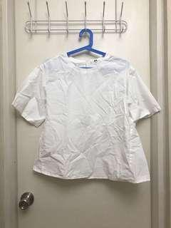 XL Uniqlo White Blouse