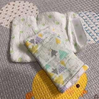 🚚 日本帶回毛巾布揹巾口水巾