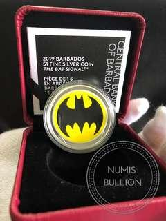 Bat Signal Batman Glow in the Dark Silver Coin