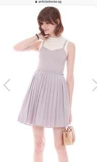 🚚 ACW Pleated Spag Dress in Grey