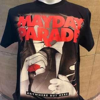 🚚 Mayday parade any where but here rock t shirt MP