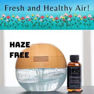 🚚 Haze Free! Air Purifier! Bundle with essential oil! Aroma Diffuser. Clears Air. Aromatherapy.