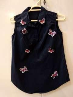 Butterfly sleeveless top