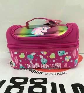 💯 ORIGINAL(READY STOCK) Smiggle Pop Double Decker Lunchbox PINK PONY
