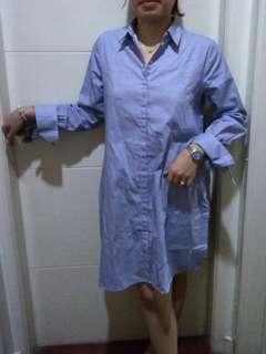 Longsleeve Stripes Dress with Slit